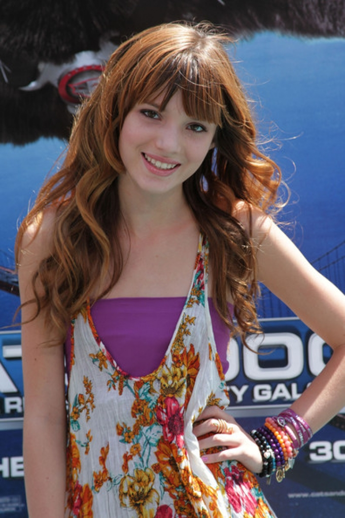 Bella Thorne Long Curly Hairstyles