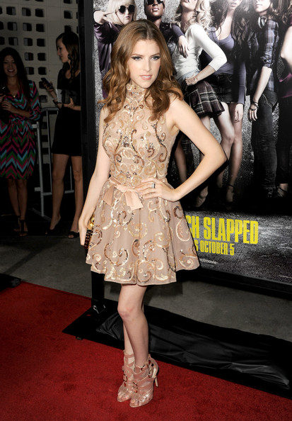 Best Anna Kendrick Gold Cocktail Dress