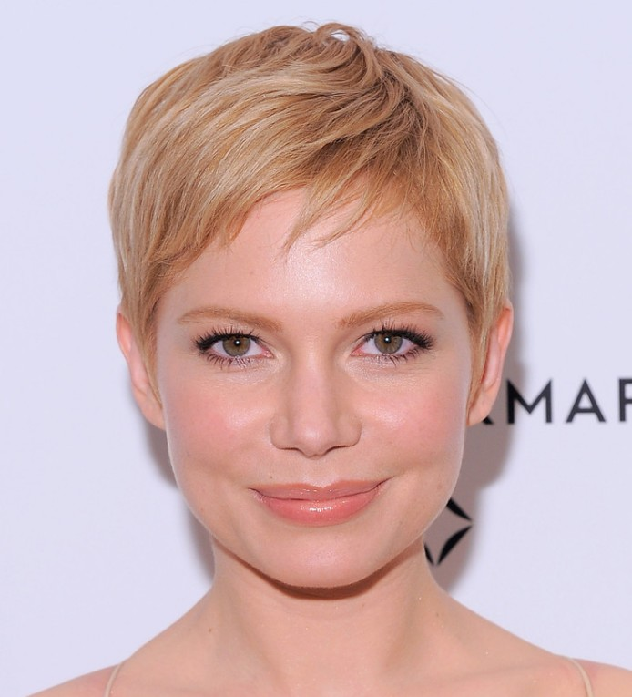Michelle Williams Blonde Pixie Haircut 2013