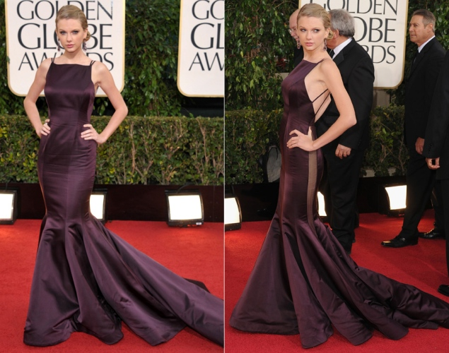 Taylor Swift Evening Dress at The Golden Globe Awards 2013