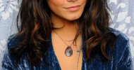 Vanessa Hudgens Metallic Eyeshadow on March 3, 2011