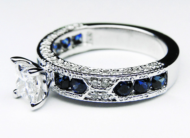 antique diamond and sapphire engagement rings