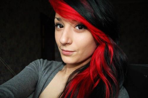 black and red hair color ideas