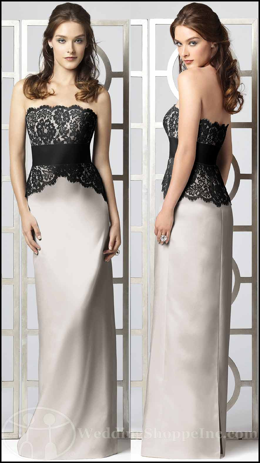black and white lace bridesmaid dresses