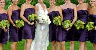 deep purple bridesmaid dress