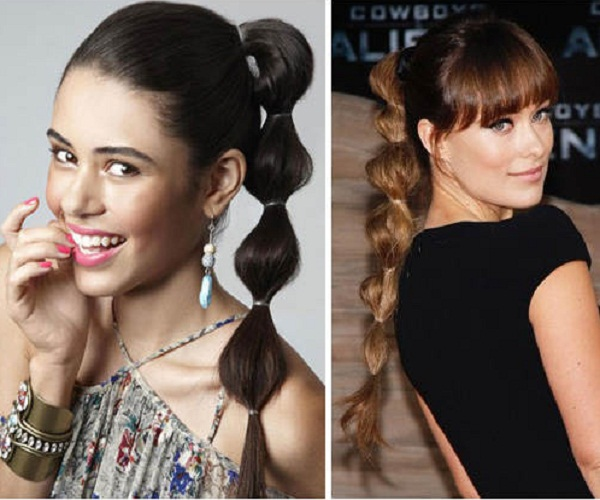 Bubble Ponytail Hairstyles For Girls