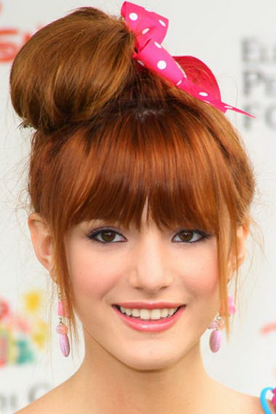 Astounding Cute Messy Bun Hairstyles 2013 Fashion Trends Styles For 2014 Hairstyle Inspiration Daily Dogsangcom