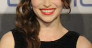 Emilia Clarke Side Sweep Hairstyles