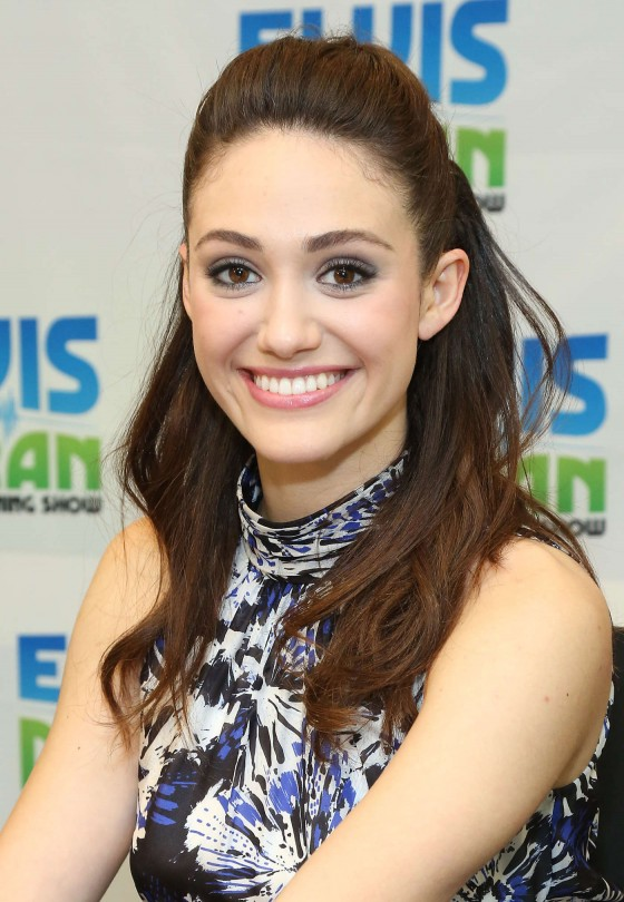 Emmy Rossum Half Up Half Down Hairstyles
