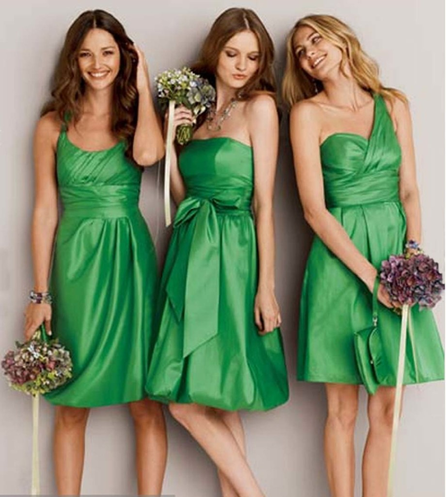 Green Bridesmaid Dresses 2013 Collections