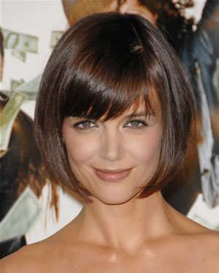 Katie Holmes Cute Inverted Bob Hairstyles