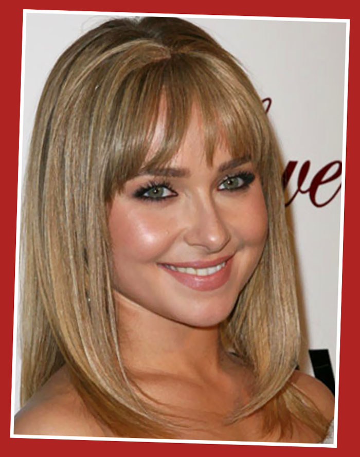 Medium Length Blonde Hairstyles Bangs Fashion