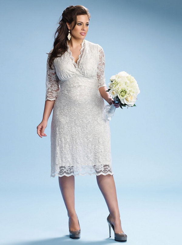 Plus Size Short Wedding Dresses 2013