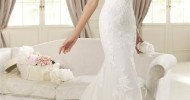 Simple Lace Wedding Dresses 2013