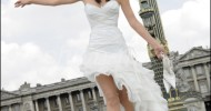Simple Short Elegant Wedding Dresses 2013