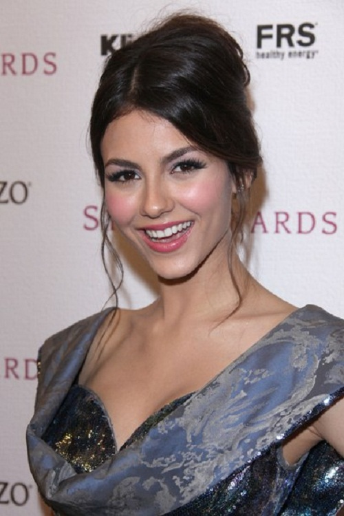Victoria Justice Messy Updo Hairstyles