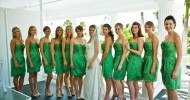 clover green bridesmaid dresses