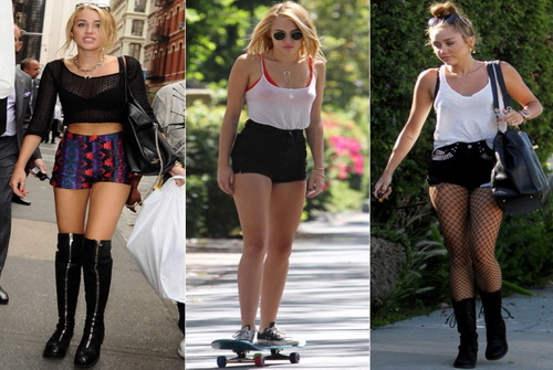 miley cyrus summer outfits