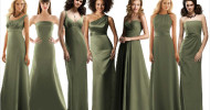 moss green bridesmaid dresses