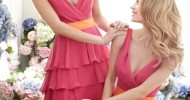 short coral bridesmaid dresses 2013
