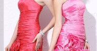 short pink bridesmaid dresses 2013