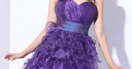 short purple bridesmaid dresses 2013