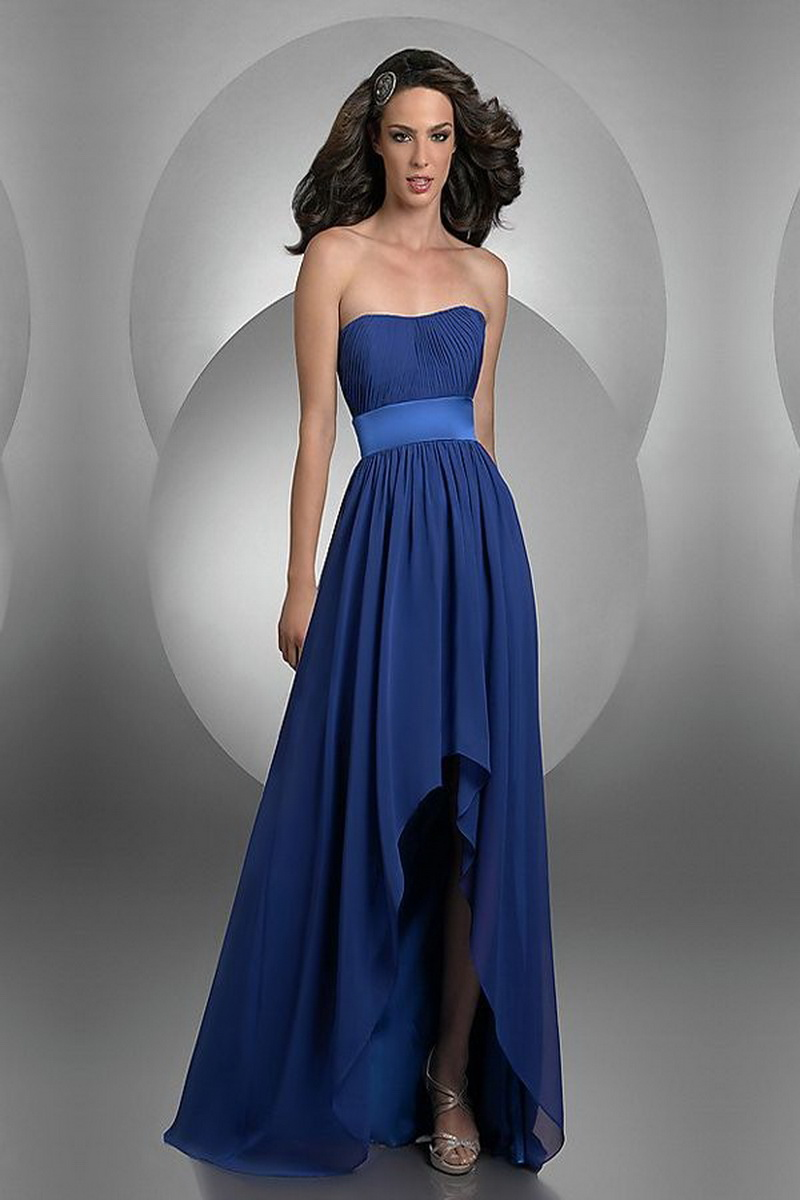 dark blue prom dress