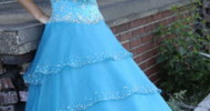 long blue prom dresses