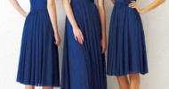 navy blue bridal party dresses