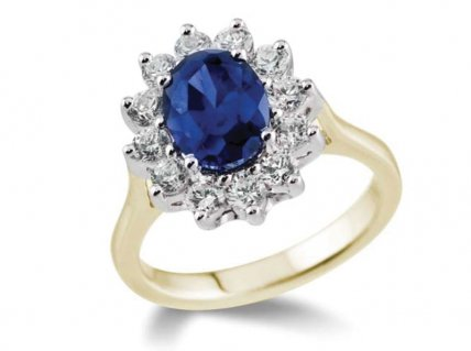 blue engagement rings for women
